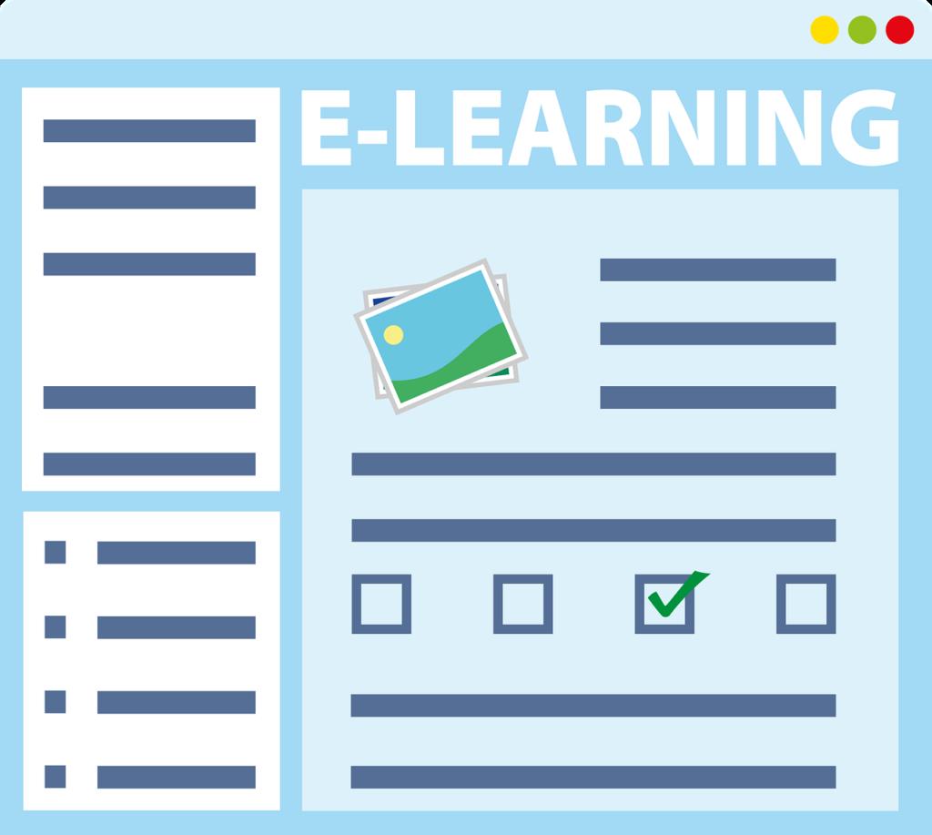 E-Learning im geöffneten Browser Fenster